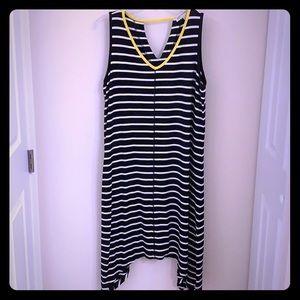 Jones New York Sport Blue & White Striped Dress XL